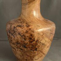 burl maple vase, wood turned burl maple vase, wood turn vase, wood turned artwork, decorative pieces, home goods art